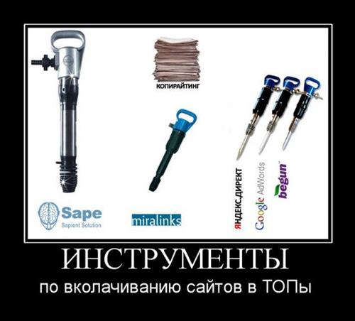 Инструменты для продвижения сайта